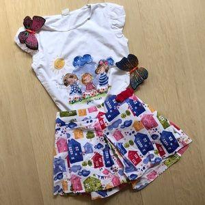 🏘 Mayoral girl top and shorts set - NWT